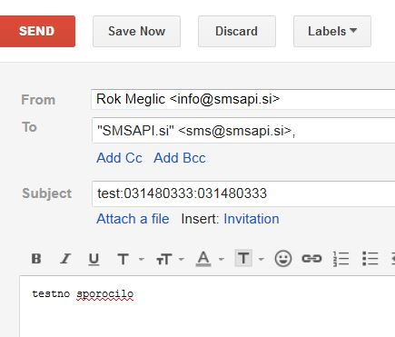 Email v SMS primer